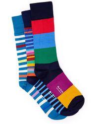 Paul Smith - Set Of Three Striped Socks - Lyst