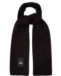 Y-3 - Logo-patch Wool Scarf - Lyst
