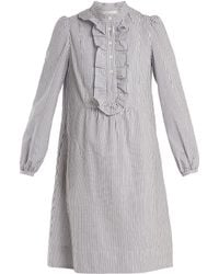 A.P.C. - Anita Striped Cotton Dress - Lyst