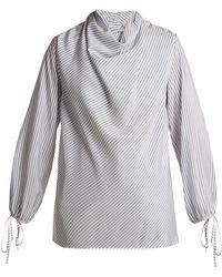 Loewe - Striped Silk Blouse - Lyst