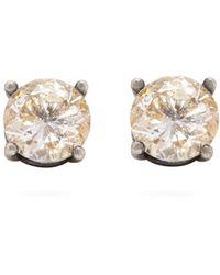 Bottega Veneta - Cubic Zirconia And Sterling Silver Stud Earrings - Lyst