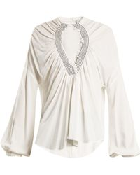 Rachel Comey - Siphon Smocked Cut Out Top - Lyst