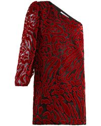 Givenchy - Asymmetric Velvet Devoré Mini Dress - Lyst