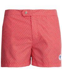 Robinson Les Bains - Ucla Geometric-print Swim Shorts - Lyst