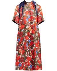 Marni - Robe midi en coton à imprimé floral Duncraig - Lyst