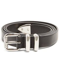 Prada - Skinny Leather Belt - Lyst