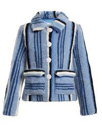 Saks Potts | Lucy Striped Shearling Jacket | Lyst