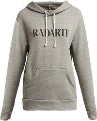 Rodarte - Radarte Cotton Blend Hooded Sweatshirt - Lyst