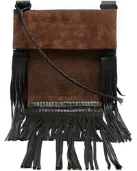 Saint Laurent - Tanger Fringed-leather Suede Cross-body Bag - Lyst