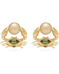Daniela Villegas Cangrejitos Mismatched 18kt Gold Earrings - Metallic