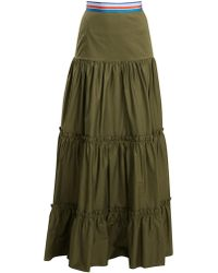 Stella Jean | Tiered Cotton-blend Maxi Skirt | Lyst
