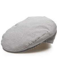 Borsalino - Striped Cotton-blend Flat Cap - Lyst