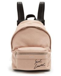 Saint Laurent - Toy-city Embroidered Mini Leather Backpack - Lyst
