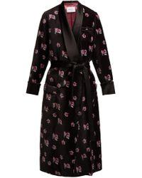 Racil - Andromeda Floral-print Velvet Robe Coat - Lyst