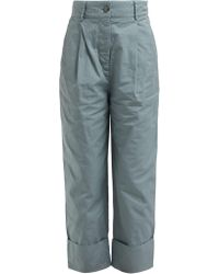 Acne Studios - Tapered Cotton Chino Trousers - Lyst