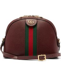 292174fc06b19a Gucci - Ophidia Small Web Striped Leather Cross Body Bag - Lyst