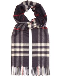 Burberry - Exploded Check Cashmere Scarf - Lyst