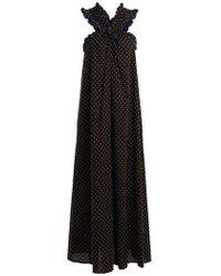 Marysia Swim - Polka-dot Crossover-front Cotton Maxi Dress - Lyst