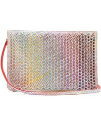 Christian Louboutin - Loubiclutch Spike-embellished Leather Clutch - Lyst
