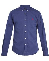 Polo Ralph Lauren - Logo-embroidered Button-down Cotton Shirt - Lyst