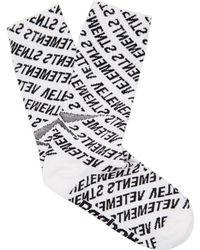 Vetements - Monogram Cotton-blend Mid-calf Socks - Lyst