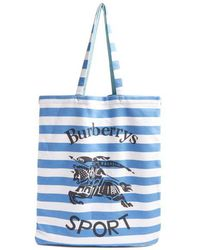 Burberry - Striped Tote Bag - Lyst