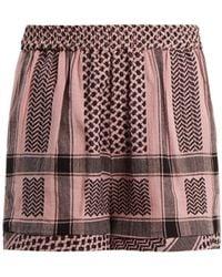 Cecilie Copenhagen | High-rise Scarf-jacquard Cotton Shorts | Lyst