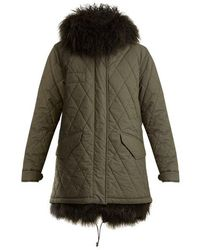 Mr & Mrs Italy - Mongolian-fur Lined Hooded Cotton-blend Coat - Lyst