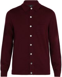 Dunhill - Patch Pocket Wool Cardigan - Lyst