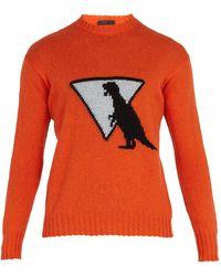 Prada - Dinosaur Wool Sweater - Lyst