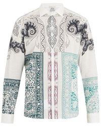 Etro - Point-collar Paisley-print Cotton Shirt - Lyst