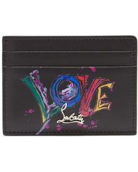 Christian Louboutin Kios Love Leather Cardholder - Black