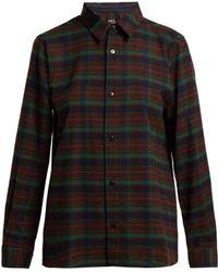A.P.C. - Mireille Flannel Shirt - Lyst