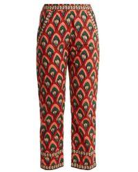 Rhode Resort - Rohan Floral-print Wide-leg Trousers - Lyst