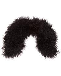 Yves Salomon - Wool Collar Scarf - Lyst