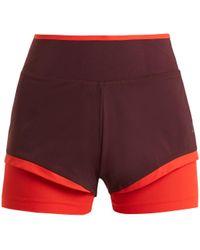 adidas By Stella McCartney - Training Double-layered Performance Shorts - Lyst