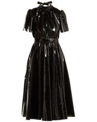MSGM - Bow-back Pvc Midi Dress - Lyst