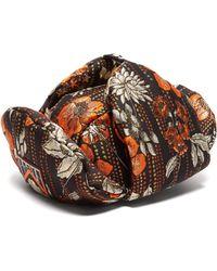 Prada - Floral Jacquard Broacade Trapper Hat - Lyst