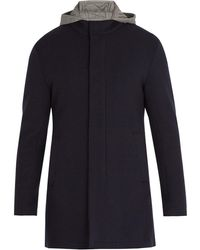 Herno - Hooded Wool-blend Overcoat - Lyst