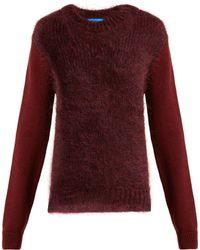 M.i.h Jeans - Dawes Contrast Panel Wool Blend Jumper - Lyst