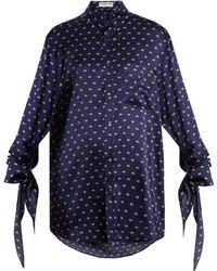 Balenciaga - Knotted Cuff Shirt - Lyst