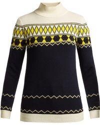 Maison Margiela - Fair Isle Intarsia Knit Wool Blend Jumper - Lyst