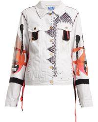 Noki - Hand Painted Denim Jacket - Lyst