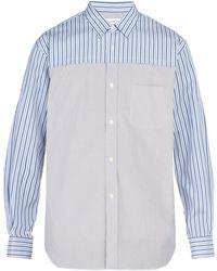 Comme des Garçons - Contrast Panelled Cotton Shirt - Lyst