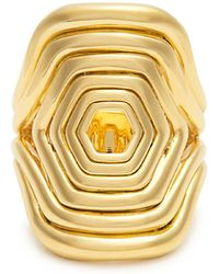 Fernando Jorge - Yellow Gold Cushioned Lines Ring - Lyst
