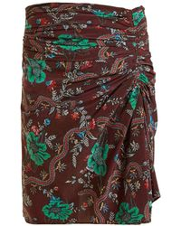 Isabel Marant - Ruffle Floral Print Skirt - Lyst
