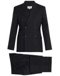 Maison Margiela - Pinstripe Double-breasted Suit - Lyst