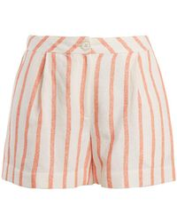 Thierry Colson - Biarritz Spugna High Waisted Shorts - Lyst