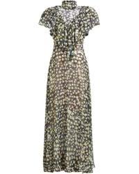 7e8c820f5770 Preen By Thornton Bregazzi - Emily Ruffled Floral Print Georgette Gown -  Lyst
