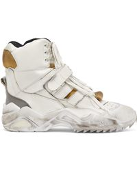 Maison Margiela - Retro Fit Distressed High Top Trainers - Lyst